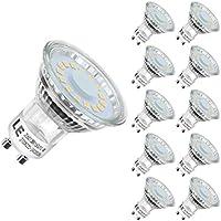 Lighting EVER - Bombillas LED GU10-4W = 50W Halógena, Blanco Cálido 2700K, paquete de 10