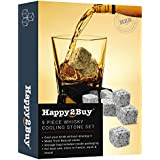 Happy2Buy Whisky Ice Cooler Cubes With A Velvet Pouch (White) - Pack Of 9