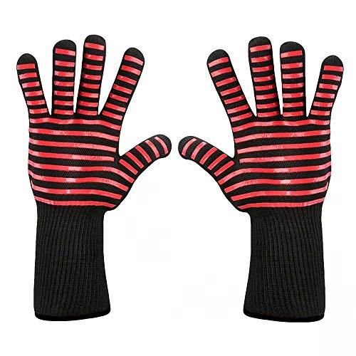 Kostüm Werwolf Heiße - QIMANZI Heiß BBQ Grillen Handschuhe Kochen Extrem Hitze Beständig Ofen Schweißhandschuhe(A1)