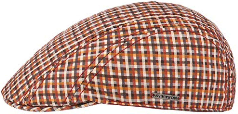 Stetson Coppola Manatee Cotton Quadri Donna Uomo Piatto Berretto Piatto cap  Estivo con Visiera Estate Inverno Parent d09918 f8f596a5b810