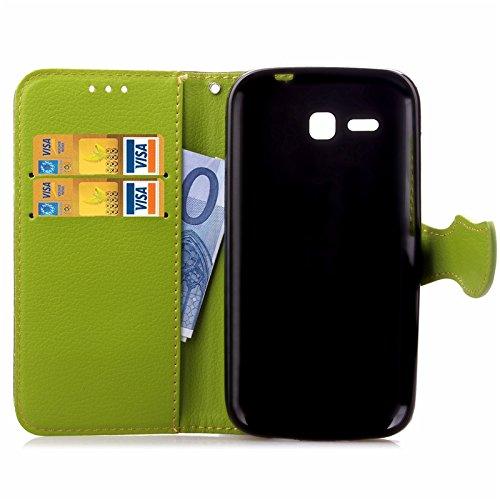 YHUISEN Huawei Y600 Case, Natur Blatt Magnetverschluss Stil PU Leder Brieftasche Flip Case Cover für Huawei Ascend Y600 ( Color : Black ) Brown