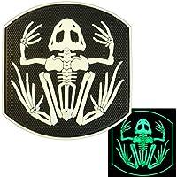 US Navy Seals Bone Frog Skull Glow Dark DEVGRU Frogman Morale PVC Touch Fastener Patch