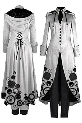 Beutyshop Frauen Tuxedo Gothic Frack Jacke Steampunk VTG -