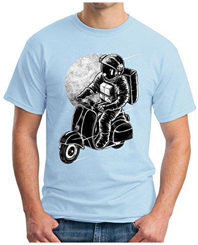 OM3 - ASTRO-SCOOTER - T-Shirt GEEK, S - 5XL Himmelblau