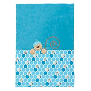 Nattou Couverture Singe Bleu 100 x 75 cm