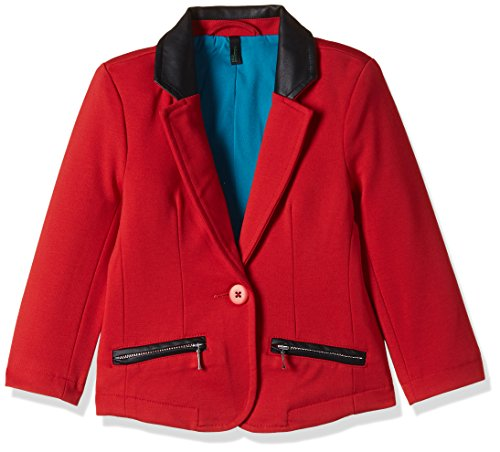 United Colors of Benetton Baby Girls' Jacket (16A2JACK0012IK461Y_Red_1Y)