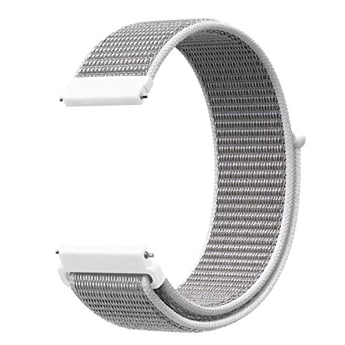 Vamoro Ersatz Nylon Armband Uhr Armband für Samsung Galaxy Watch 42mm Nylon atmungsaktive Uhrenarmband(Weiß) (30mm Weiß Band Watch)