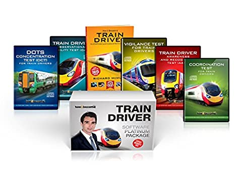 TRAIN DRIVER TESTS Software PLATINUM Package Box Set [UPDATED 2017]: Train Driver Book, Interactive AART CD-ROM, OATR CD-OM, DOTS Concentration Tests, ... CD-ROM Software: 1 (How2become) (Career Kit)