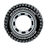 YOUYONGSR Adult Swim Ring Riesen Reifen Troll Kreis Durchmesser 91 cm Schwarz