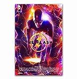 NOVELOVE Cuadro de Arte de pared Le Flash 2018 DC Film Super Héros Comic Poster Affiches Toile Peinture sans Cadre 40 * 60cm