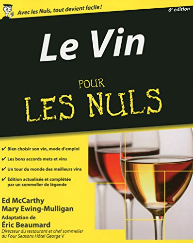 Vin, 6e Pour les Nuls + Livret accords mets et vins par Éric BEAUMARD