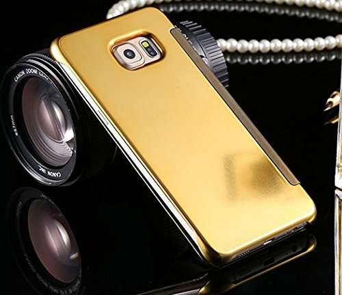 Kapa Semi transparent Mirror View Clear Flip Case Cover For Samsung Galaxy S6 – Gold