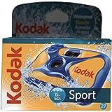 Kodak Water Sport 27 Exp - Cámara acuática desechable (hasta 15 metros, ISO 800), azul