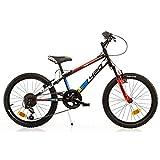 Dino Bikes 420 US serie MTB bicicletta 20 con cavallo, freni V-brake e forcella con sospensione per ragazzi da 8 a 10 anni
