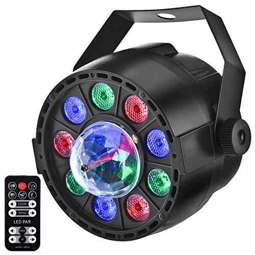 LED Partylicht, Eyourlife 2in1 LED Par Discolicht Discokugel Licht DMX512 8CH RGB Lichteffekte mit Fernbedienung für Hochzeit Disco Partei DJ Club Bar KTV 12x1W LED mit EU Stecker