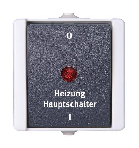 Kopp 541356004 Pro AQA Aufputz-Feuchtraum Schalterprogramm Heizungshauptschalter beleuchtet -