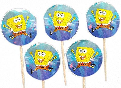 Spongebob Deko Zahnstocher,10 Stk (Geburtstag Sponge Bob)