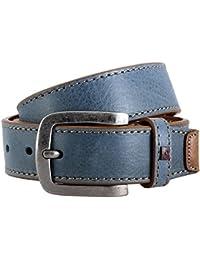 Ledergürtel Herren / Gürtel Herren Pierre Cardin, hellblau / jeans, 70120