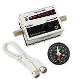 Ligawo 6552510 Satfinder DVB-S/S2 Satmessgerät LED Anzeige akustischer Signalton + Kompass
