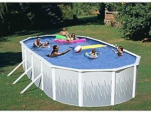 Swim'n Play - Piscine acier ovale - 5.48 x 3.65 m x H 1.22 - Filtration à sable - 5.69 m3/h