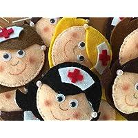 Enfermera - Broches de fieltro