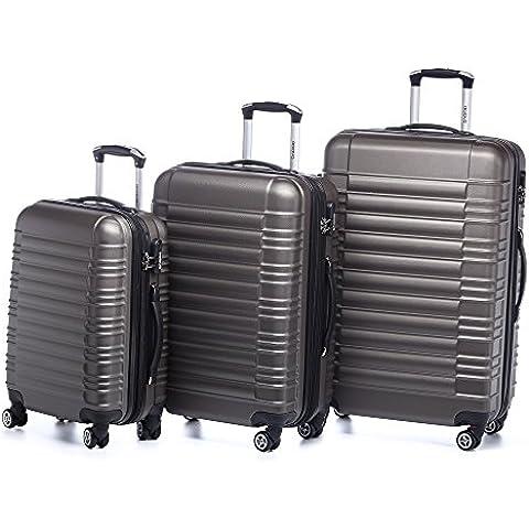 Beibye LG2088 - Juego de 3 maletas rígidas