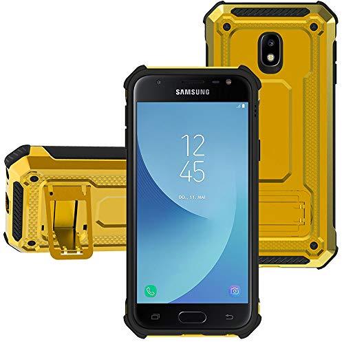 "KUAWEI Custodia Samsung Galaxy J5 2017 Cover Resistente alle Cadute Armatura Kickstand Shockproof Protective Cover 360 Gradi Armatura Resistenza alla Caduta per Samsung J5 2017 J5 PRO J530 5.2"" (Oro)"