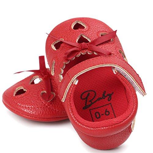 BZLine® Baby Girl Hollow out Sandalen Schuh Schuhe Sneaker Anti-Slip Soft Sandalen Rot