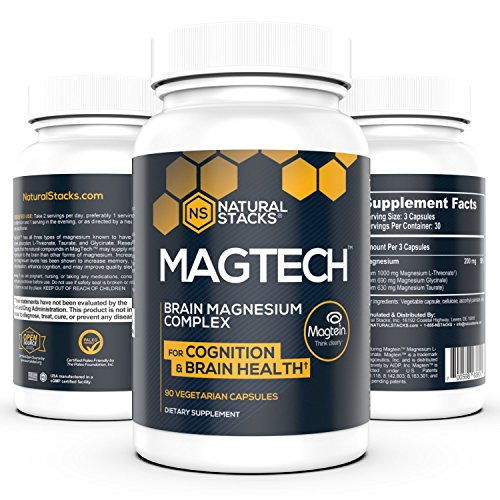 MagTech Optimal Magnesium Supplement with L-threonate, Taurate, and Glycinate | Used to Enhance Memory, Increase Cognition and Improve Sleep Quality