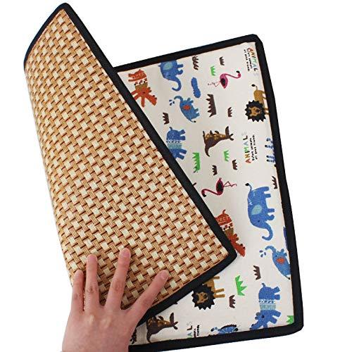 Lppanian Pet Eisfläche Hund Cool Matte Katze Cool Pad Doppelseitige Kühlung Nest Pad Pet Cool Seat Groß (60cm x 50cm) Doppelseitig Cooler Tisch Animal World - Groß Pet-kiste-tisch