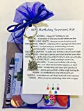 80th Birthday Survival Gift Kit Fun Happy Birthday Gift/Present For Him/Her Choose From Lilac Or Blue (Royal Blue)