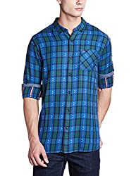 Tommy Hilfiger Mens Casual Shirt (8903876781047_P6ATW010_Large_Federal Blue)