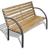 vidaXL Banc de Jardin Armature en métal et lattes en bois