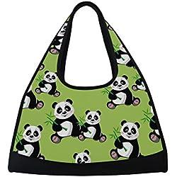 TIZORAX Panda - Bolsa de bambú para Viaje, Color Verde