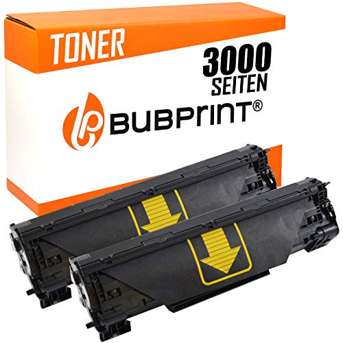 Bubprint 2 Toner kompatibel für HP CF283A 83A für Laserjet Pro MFP M125A M125NW M126A M127FN M127FW M128FN M201DW M225DN M225DW M226DN M226DW Schwarz (M125a Hp-drucker)