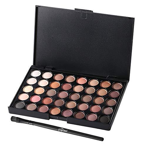 40 Farben Set Frauen Gesichtskosmetik Makeup Lidschatten-Palette Persönliche Lidschatten Kosmetik Werkzeuge mit Pinsel - Multicolor 40 Palette