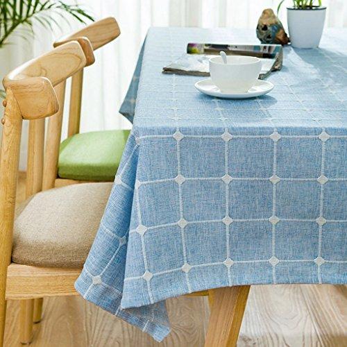 Nappes à carreaux minimalistes Nappe carrée fraîche nordique ( Color : C Blue , Size : 85*85CM )