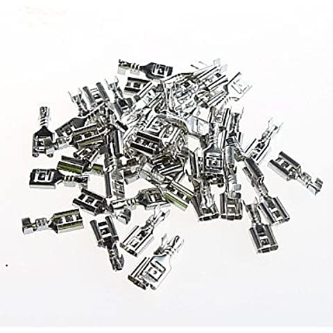 DNGY* 4,8MM STECKER Feder s Kalt voller Kupfer (50pcs)