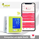 Sharon Bluetooth Wrist Blood Pressure Monitor Google Fit Apple Health | Rechargeable Battery via Micro USB | Arrhythmia display | 60 memory locations | Data transfer to SwissMed App iOS Android