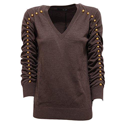 4545F maglia marrone LIU JO MANICA 3/4 LANA polo donna t-shirt women [42]