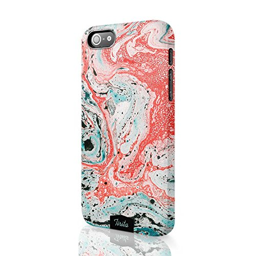 Tirita Hard Plastic Phone Case Cover Trendy Fashion Cute Design Marble  Colourful Pattern For Iphone 6
