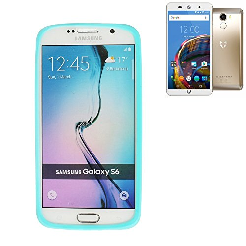 Preisvergleich Produktbild Silikonbumper / Bumper aus TPU für Wileyfox Swift 2, Türkis / Blau | Schutzrahmen Schutzring für Smartphone Case Hülle Schutzhülle - K-S-Trade (TM)