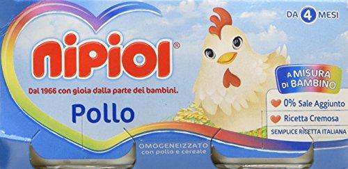 Nipiol Omogeneizzato Carne Pollo 24 Vasetti da 80 gr