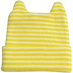 Niños Niñas Sombrero - Orejas Lindas Gorros de Punto Encantador Cálido Suave Otoño y Invierno Beanie para 0-5 Años Bebé Infantil