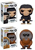 Funko POP! War For The Planet Of The Apes: Caesar + Maurice - Figure Set NEW