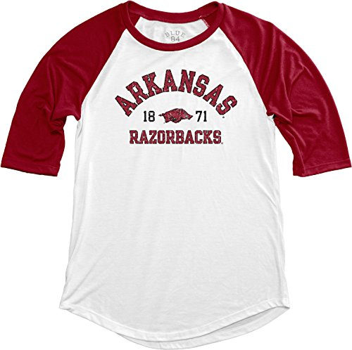 Blue 84 NCAA Arkansas Razorbacks NCAA Damen Teagan Baseball-T-Shirt, groß, Kardinal -
