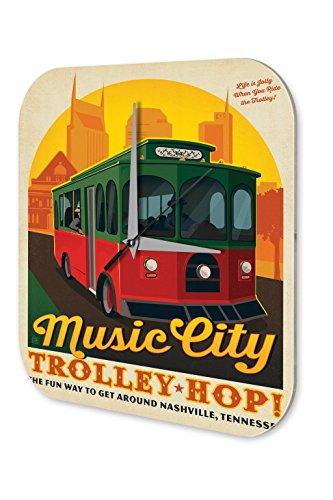 Nashville Bild Von (Wanduhr Fernweh Stadt Musik Wagen Nashville Acryl Dekouhr Vintage)