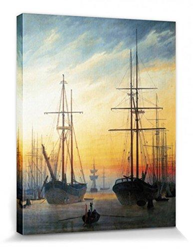 1art1 55588 Caspar David Friedrich - Ansicht Eines Hafens, 1815-16 Poster Leinwandbild Auf...
