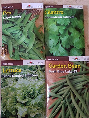 PLAT FIRM GRAINES DE GERMINATION: Burpee Bio GemÌse- und KrÀutergarten-Sammlung Seed 5 Packs + Sonnenblumen