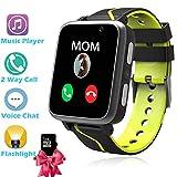 Orologio Intelligente Bambini con Lettore Musicale MP3 - Ragazzi Ragazze Smart Watch Telefono, Bluetooth Smartwatch Bambini LBS Camera Torcia Sveglia FM SOS, Bambini Vacanze Regali di Compleanno